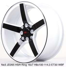 credit velg mobil di lampung   NE3 JD265 HSR R16X7 H8X100-114,3 ET30 W