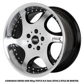 toko velg termurah GANGNAM 6052 HSR R17X75/85 H5X114,3 ET42/38 BMF/ML