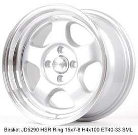 BRISKET Velg termurah HSR R15X7/8 H4x100 ET40/33 SML