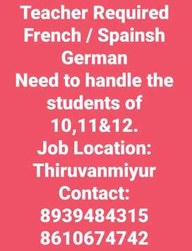 Teachers Required for French,Spanish&German