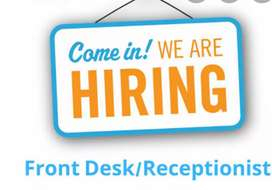 Receptionist job post