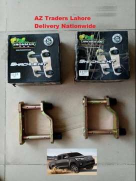 Rear Shackle Set One Side IRONMAN 4x4 Toyota Hilux Revo Pair Brand New
