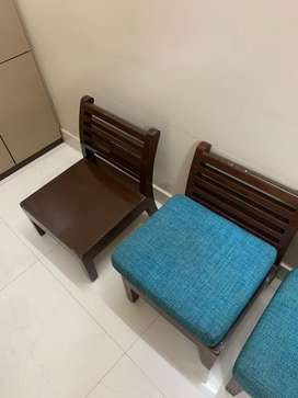 Wooden chairs, low hight