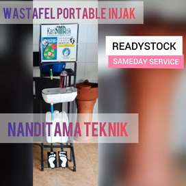 Jual wastafel portable(wastafel portabel, injak, tnpa sentuh tangan)
