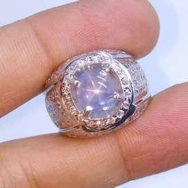 Natural Unheated NH Srilangka 4.21 CT Star Blue Sapphire + Sertifikat