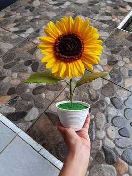 Topiary bunga matahari flanel