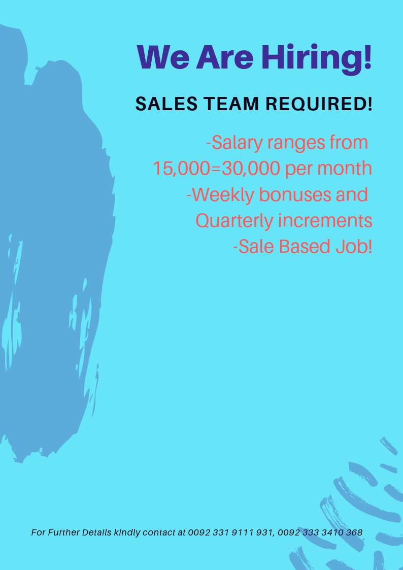 Sales Team Required 0