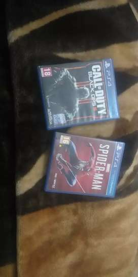 Cod black ops 3 and spider man ps4