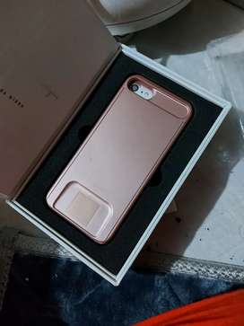 Iphone 7/8 phlip mirror cover in Rose Gold color
