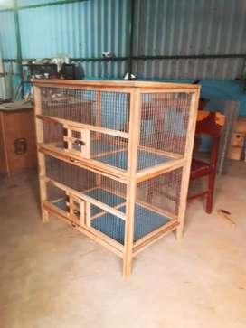 RK Teak Wood Birds Cage