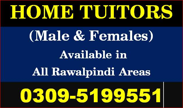 Best Home Tutors Available in All RWP;All Areas for Home Tutions.. 0