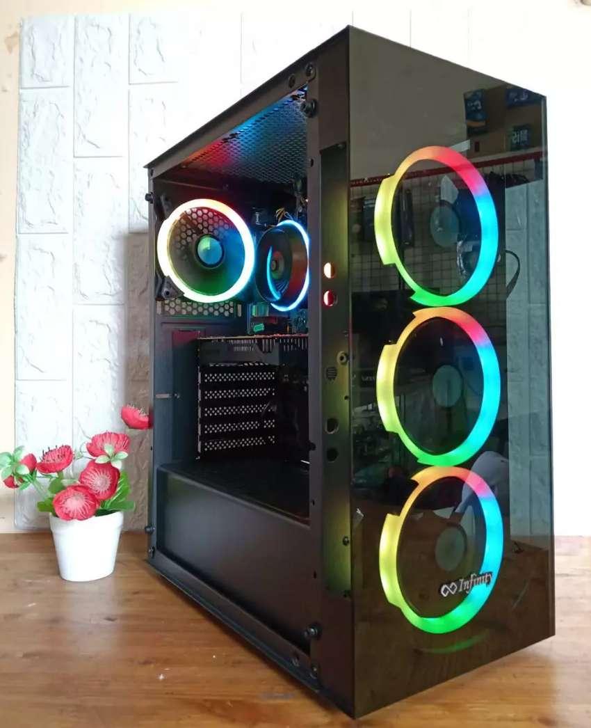 Gaming PC i3 9100F Coffelake GTX1050Ti 8GB DDR4 RGB SSD Render PUBG 0