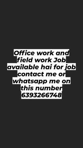 Office work and field work