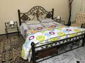 Iron Double Bed with mattress