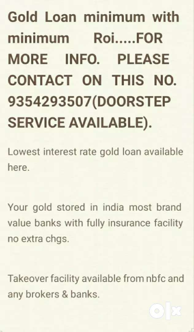 Gold loan doorstep with lowest RATE OF INTEREST. 0