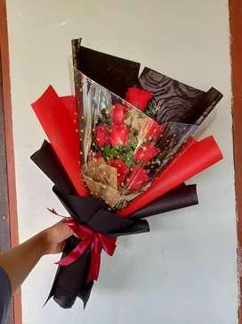 Buket bunga dan buket pengantin