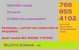 We require data entry workers for our E-Book project. Our company is a