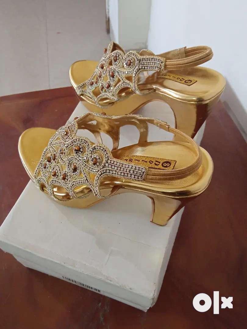 Bridal high heel sandal