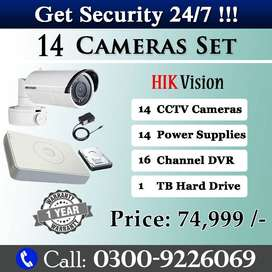 Brand New 14 CCTV Camera Set (HIK Vision)