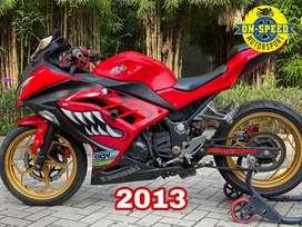 JUAL MOTOR MOGE KAWASAKI NINJA 250 fi 2013 MERAH modif murah