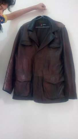 Leather jacket brown color