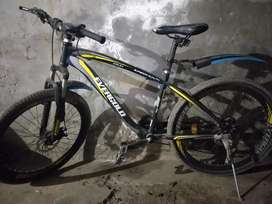 Mountain shokh resist bicycle used only for gym purpose urjnt sale