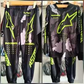 Baju olharga anak Jersey Trail Cross Sepeda Mx Racing