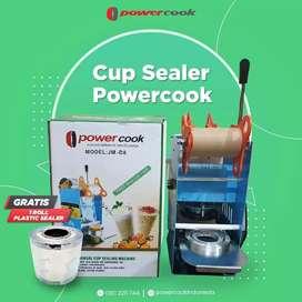 Mesin pres gelas plastik  cup sealer Power cook