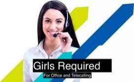 speaking skills required in English basic or Hindi  +2 pass fresher ca
