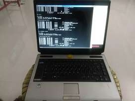 Toshiba equium laptop  80gb hdd. Good for windows Vista and MS Office.