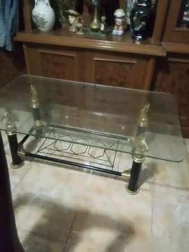 Jual meja makan kaca tebel 6cm,original