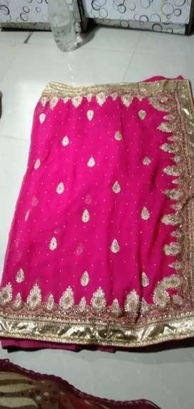 Beautiful pink saree