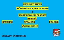 English tuition for all class and spoken english classes
