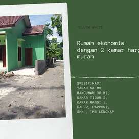 Rumah ekonomis dengan 2 kamar harga murah