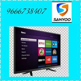 Low cost! 32 inches UHD fhd ledtv Google Voice Sound bar SANYOO brand