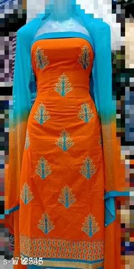 Fashionable Cotton Suits dress materials
