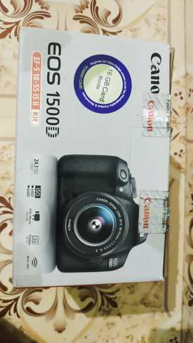 Cannon 1500D box kit,shutter count 5000,yongnuo f1.8 50mm,uv filter