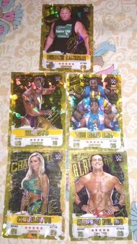 WWE cards with 10 silvers and 5 golds