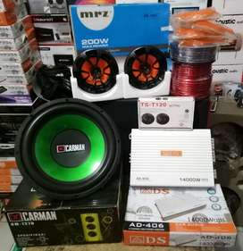 "Plus Pasang,Sub12""+Power 4ch+Speker 6""+Tweeter+Box subwofer+Kabel2"