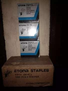 ETONA STAPLES atau STAPLER chisel pointed.