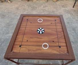 Carrom Board Full Size (4.5×4.5 ft) with Iron Stand