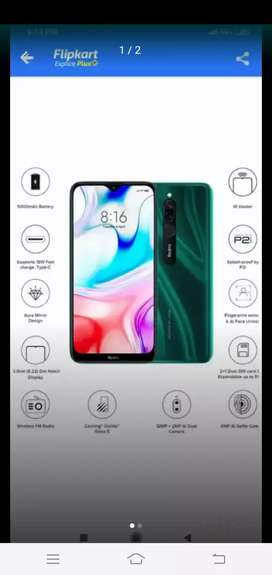 MI Redmi 8 4/64 fully sealed pack emerald green color