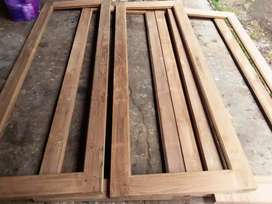 jendela kayu jati TPK/perhutani