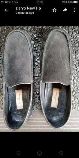 Sepatu casual bludru Emenegerildo Zegna Italy asli ukuran 43