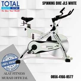 Alat Fitness Sepeda statis Spinning Bike JLS WHITE