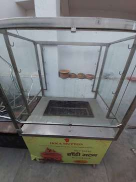 Glass Display counter with tandoor.