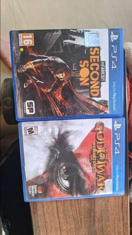 PS4 games god of war 3 and infamous second son