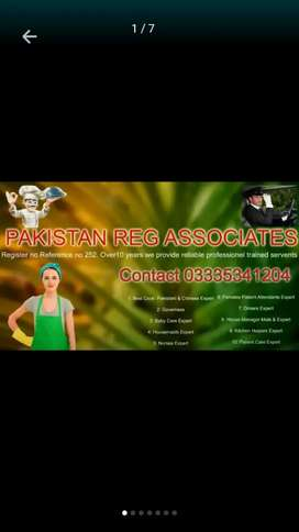 We provide best professionally trained servents reg no etc 252