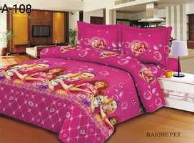 Seprei barbie pet love - seprei anak warna pink 6 kaki