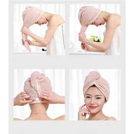 Handuk rambut Handuk kepala Turban Pengering Rambut Daya Serap Tinggi
